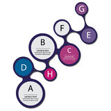 Het Elementen Vlak Vectorontwerp van Infographicmetaball Stock Foto's