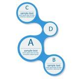 Het Elementen Vlak Vectorontwerp van Infographicmetaball Stock Foto