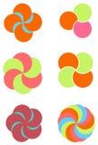 Het elementencirkel van het embleem Stock Fotografie