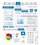 Het elementeninzameling van Webdesign Stock Afbeelding