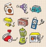 Het elementenpictogram van het huishoudelijk werk Royalty-vrije Stock Foto