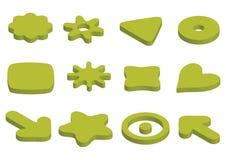 Het elementenpictogrammen van het embleem - vector Stock Fotografie