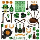 Het elementenreeks 2 van Patrick royalty-vrije illustratie