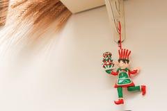 Het elf van de Kerstmisdecoratie Stock Fotografie