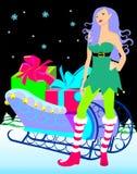 Het elf van Kerstmis Royalty-vrije Stock Afbeelding