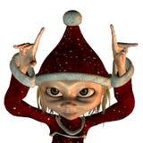 Het elf van Kerstmis Stock Afbeeldingen