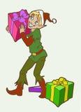 Het elf van Kerstmis royalty-vrije illustratie