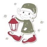 Het Elf van Kerstmis op witte achtergrond vector illustratie