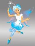 Het elfmeisje van de sneeuw stock illustratie