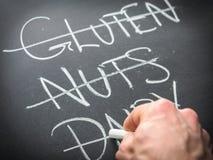 Het elimineren van voedsel van dieet Stock Foto