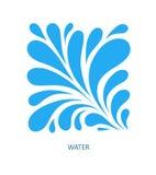 Het Embleem abstract ontwerp van de watergolf De Sport Logotype c van de schoonheidsmiddelenbranding Royalty-vrije Stock Foto's