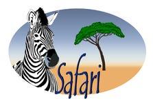 Het embleem Afrika van de safari Royalty-vrije Stock Afbeeldingen