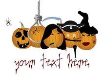 Het embleem of de banner van Halloween Stock Foto's
