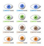 Het embleem en de pictogrammen van het oog Stock Afbeeldingen