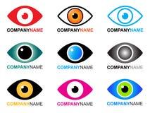 Het embleem en de pictogrammen van het oog Stock Afbeelding