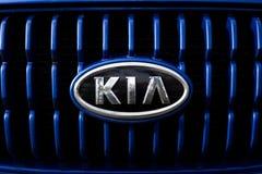 Het embleem en het kenteken van Kia Motors Stock Afbeelding