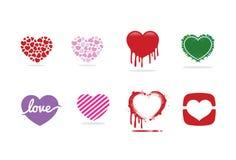 Het embleem, het symbool en het pictogram van het liefdehart Royalty-vrije Stock Fotografie