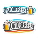 Het embleem op het thema van Oktoberfest Stock Fotografie