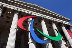 Het embleem Paralympic op het National Gallery royalty-vrije stock foto