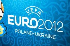 Het embleem van 2012 van de EURO Stock Foto