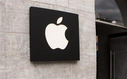 Het embleem van Apple Store Stock Fotografie