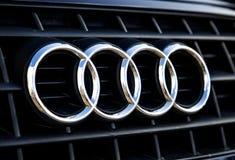 Het Embleem van Audi Stock Foto