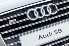 Het Embleem van Audi S8 Royalty-vrije Stock Foto's