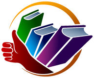 Het embleem van boeken Stock Foto