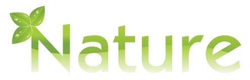Het embleem van de aard (bescherm het milieu) Stock Afbeeldingen