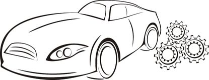 Het embleem van de autodienst Royalty-vrije Stock Foto's