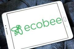 Het embleem van het de automatiseringsbedrijf van het Ecobeehuis Stock Fotografie