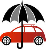 Het embleem van de autoverzekering vector illustratie