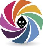Het embleem van de babyfotografie vector illustratie
