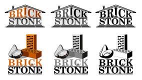 Het embleem van de baksteensteen Royalty-vrije Stock Foto
