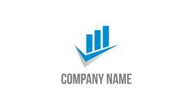 Het embleem van de bedrijfsgegevensanalyse Royalty-vrije Stock Afbeelding