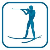 Het embleem van de Biathlonmens Royalty-vrije Stock Foto