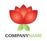 Het embleem van de bloem Royalty-vrije Stock Afbeeldingen