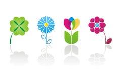 Het embleem van de bloem Stock Afbeeldingen