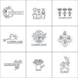 Het embleem van de bloemwinkel Stock Afbeelding