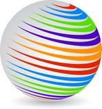 Het embleem van de bol Stock Afbeeldingen