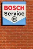 Het embleem van de Boschdienst op een muur Stock Afbeelding