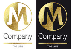 Het Embleem van de brief M Stock Afbeeldingen