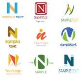 Het Embleem van de brief N stock illustratie