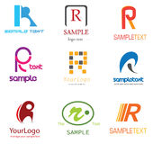 Het Embleem van de brief R Royalty-vrije Stock Afbeeldingen
