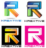 Het Embleem van de brief R Royalty-vrije Stock Fotografie