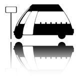 Het embleem van de bus Stock Fotografie