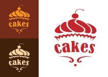 Het embleem van de cakesbakkerij Stock Afbeelding