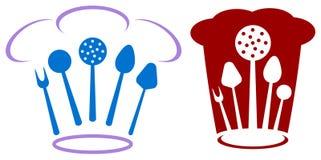 Het embleem van de chef-kok Stock Foto