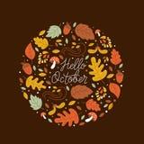 Het embleem van de de herfstcirkel stock illustratie