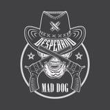 Het embleem van de desperadocowboy Stock Afbeelding